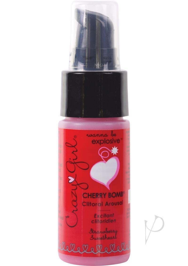 Crazy Girl Cherry Bomb Clitoral Arousal Cream Strawberry Sweetheart 1 Ounce